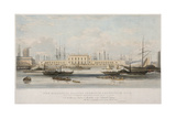 The Blackwall Railway Terminus and Brunswick Pier, Blackwall, Poplar, London, C1840 Giclee Print by Thomas Picken