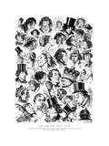 Caricatures from Punch, 1844-1882 Giclee Print by  Swain