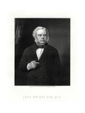John Bright, British Radical and Liberal Statesman, 19th Century Giclee Print by W Holl