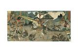 Battle, from the Series '47 Faithful Samurai, 1850-1880 Giclee Print by Utagawa Yoshitora