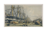 View of West India Docks from the South East, 1840 Giclee Print by William Parrott