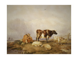 Landscape and Cattle, C1823-1902 Giclee Print by Thomas Sidney Cooper