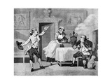 Actor Reciting to a Manager, Late 18th Century Giclee Print by Thomas Rowlandson