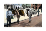 Hat Vendors, San Juan, South America, 1909 Giclee Print by  Waldrop