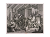 In a High Saliuation at the Point of Death, Plate V of the Harlot's Progress, 1732 Giclee Print by William Hogarth
