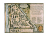 Map of the Moscow Kremlin (Castellum Urbis Moskva), Russia, 1597 Giclee Print by Willem Janszoon Blaeu