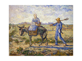 Morning: Going Out to Work, 1890 Giclee Print by Vincent van Gogh