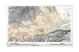 Geological Map of London and the Surrounding Area, 1871 Giclee Print by T Walsh
