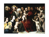 Jesus with the Little Children, C1559-1589 Giclee Print by Vincent Sellaer