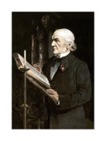 Mr Gladstone Reading the Lessons in Hawarden Church, Late 19th Century Giclee Print by Sydney Prior Hall