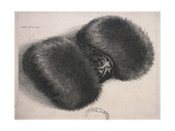 A Large Muff with a Band of Brocade, 1647 Giclee Print by Wenceslaus Hollar