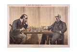 Political Chess, 1887 Giclee Print by Tom Merry