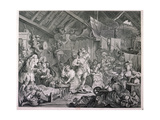 Strolling Actresses Dressing in a Barn, 1738 Giclee Print by William Hogarth