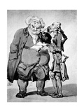 Starving Poet and Publisher, Late 18th Century Giclee Print by Thomas Rowlandson