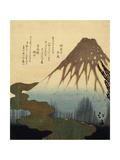 The Mount Fuji, 19th Century Giclee Print by Totoya Hokkei