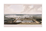 East India Docks, Poplar, London, 1808 Giclee Print by William Daniell
