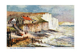 The Cliffs, Rottingdean, Near Brighton, 1905 Giclee Print by William Henry Borrow