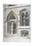 The Doorway and Lower Windows of Crosby Hall at No 95 Bishopsgate, City of London, 1860 Giclee Print by Vincent Brooks