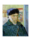 Self-Portrait with Bandaged Ear, 1889 Giclee Print by Vincent van Gogh