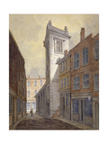 Church of St George Botolph Lane from George Lane, City of London, C1813 Giclee Print by William Pearson