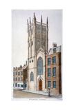 St Alban's Church, Wood Street, London, 1824 Giclee Print by Valentine Davis