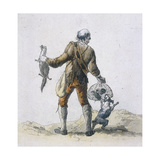 A Rat Catcher, Provincial Characters, 1804 Giclee Print by William Henry Pyne