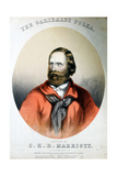 Giuseppe Garibaldi, Italian Patriot, C1864 Giclee Print