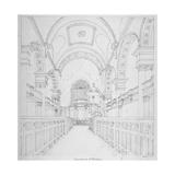 St Bride's Church, Fleet Street, City of London, 1815 Giclee Print by Valentine Davis