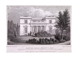 Hanover Lodge, Regent's Park, Marylebone, London, 1827 Giclee Print by William Tombleson