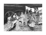 Crushing the Cane, 1886 Giclee Print by W Mollier