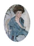 Portrait of Yelena Oliv, 1909 Giclee Print by Valentin Serov