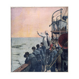 Prayers at the Scene of the Sinking of the Titanic, 1912 Giclee Print
