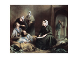 Florence Nightingale, British Nurse and Hospital Reformer, at Scutari Hospital, Turkey, 1855 Giclee Print by Henry Barraud