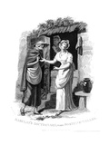 Chiromancy: Country Girl Having Her Hand Read by a Fortune Teller Who Sees Misfortunes Ahead Giclee Print by William Marshall Craig