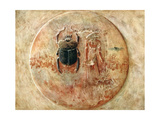 Scarab and Ra, Tomb of Seti, Egypt, 1910 Giclee Print by Walter Tyndale