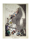 Exhibition Stare Case, 1811 Giclee Print by Thomas Rowlandson