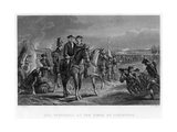 General Pepperell at the Siege of Louisburg, Canada, 18th Century Giclee Print by W Ridgeway