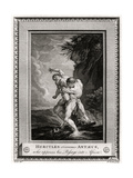 Hercules Overcomes Antaeus, Who Opposes His Passage into Africa, 1775 Giclee Print by W Walker