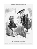 A Plaister for Pam., 1858 Giclee Print by John Tenniel