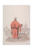 Alderman in Civic Costume Looking Towards St Paul's Cathedral, London, 1805 Giclee Print by William Henry Pyne