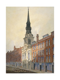 Church of St Martin Within Ludgate and Ludgate Hill, City of London, 1815 Giclee Print by William Pearson