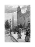 Collins Street East on a Sunday Morning, Melbourne, Victoria, Australia, 1886 Giclee Print by WJ Smedley