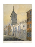 South-East View of the Church of St Margaret Lothbury, City of London, 1815 Giclee Print by William Pearson