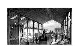 Euston Station, London Terminus of London and Birmingham Railway, 1840 Giclee Print