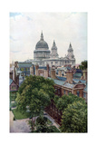 View from the Old Bailey Towards St Paul's Cathedral, London, C1930S Giclee Print by WS Campbell