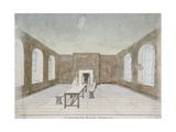 Interior of the Condemned Room in Newgate Prison, Old Bailey, City of London, 1810 Giclee Print by Valentine Davis