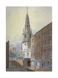 Church of St Bride, Fleet Street, City of London, C1815 Giclee Print by William Pearson