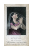 Mrs W West as Cordelia, 1820 Giclee Print by  Woolnoth