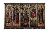 Madonna and Child with Saints (Polyptych, Five Separate Panel), C1480 Giclée-tryk af Vittore Crivelli