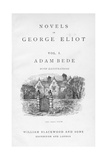 Title Page of Adam Bede by George Eliot, C1885 Giclee Print by William Small